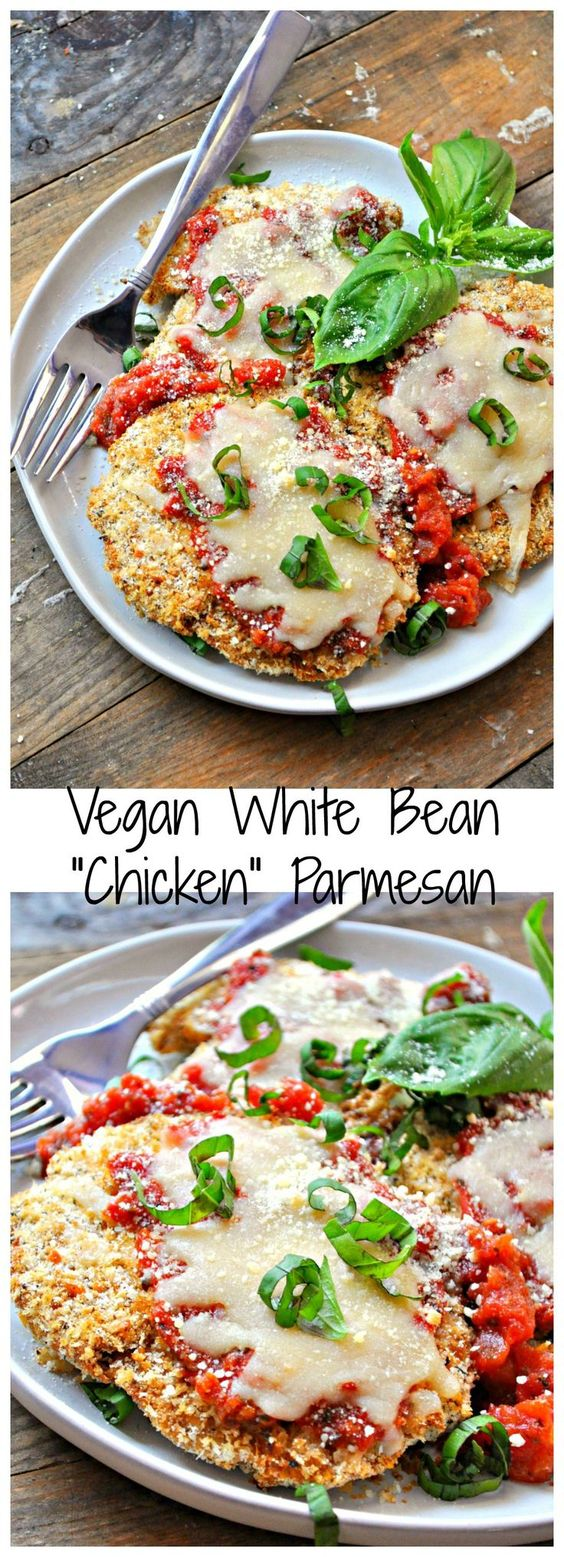 "Vegan White Bean ""Chicken"" Parmesan"