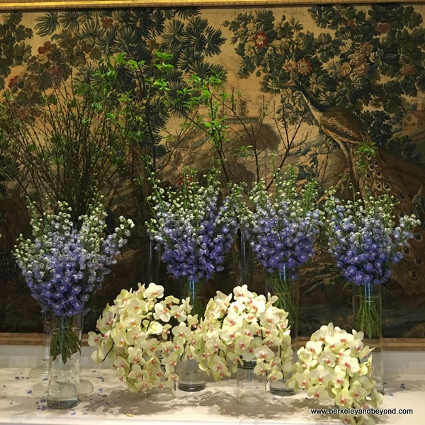 lobby floral arrangement at The Sherwood Taipei in Taiwan