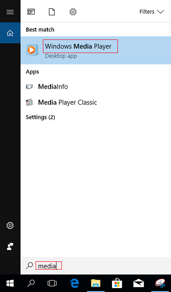 Windows Media Player On Windows 10 1
