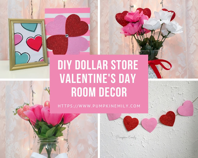 DIY Dollar Store Valentine's Day Room Decor Ideas
