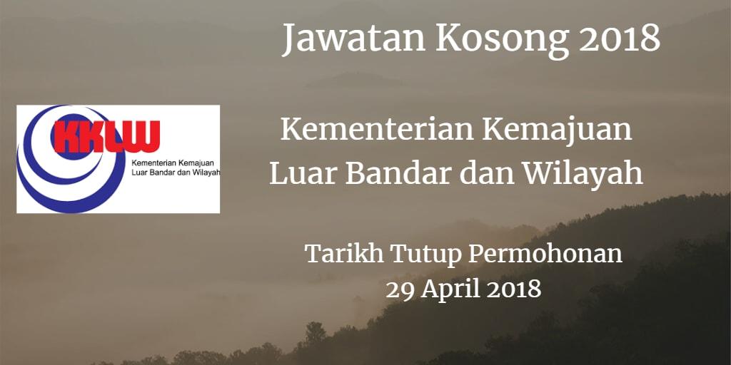 Jawatan Kosong KKLW 29 April 2018