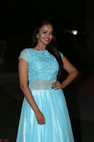 Pujita Ponnada in transparent sky blue dress at Darshakudu pre release ~  Exclusive Celebrities Galleries 133.JPG
