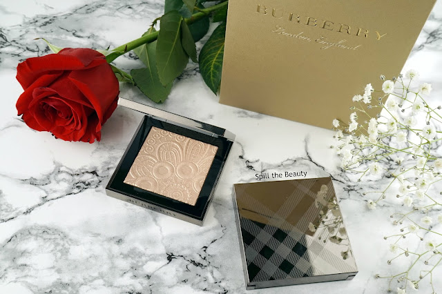 burberry fresh glow highlighter illuminating powder no 3 pink pearl no 4 rose gold review swatches
