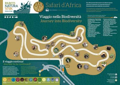 Mappa Safari Parco Natura Viva