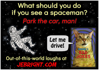 What should you do if you see a spaceman?