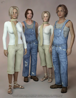 Wear Them All - Autofit Clones Expansion for Genesis 3 Male(s) and Genesis 3 Female(s)