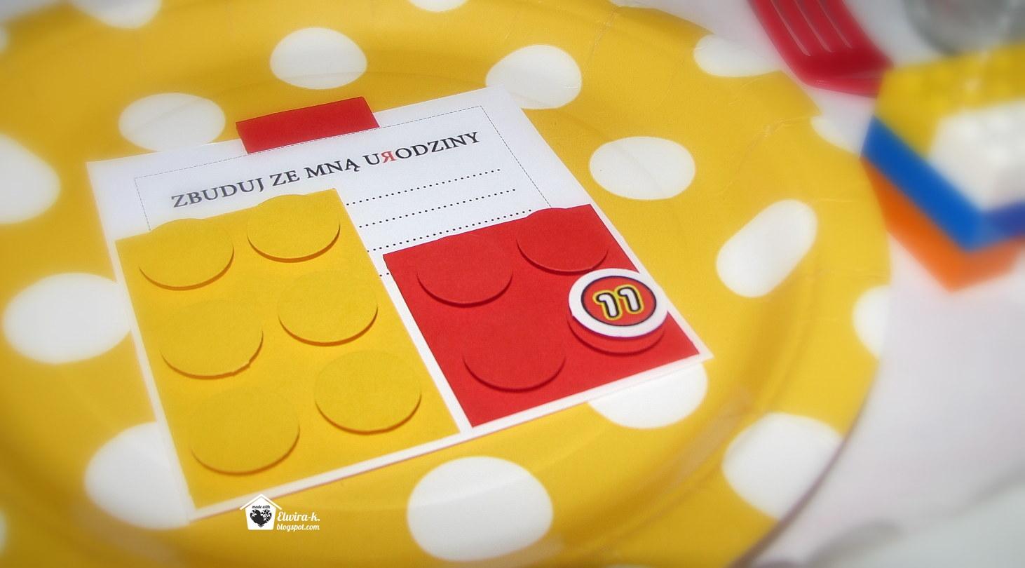 Elwira K Lego Zaproszenia Urodzinowe