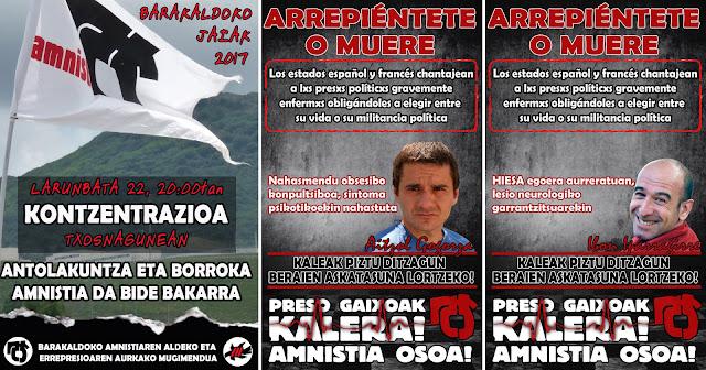 Carteles del movimiento proamnistía de Barakaldo