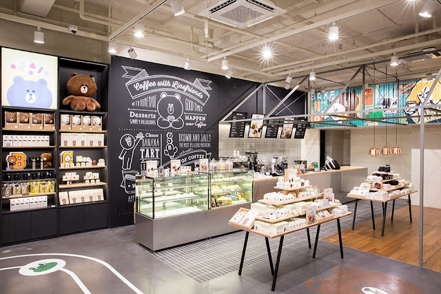 Line Friends Flagship Store Garosugil Korea