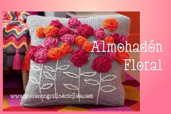 Patrones de almohadones crochet y dos agujas