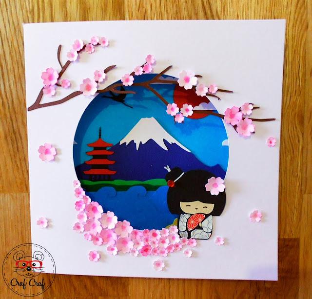 tarjeta paisaje japonés