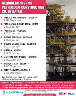 Petroleum Construction Gulf jobs walkin text image