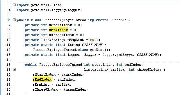 Fortune Minds - Java/J2EE: Multi threading example using Java