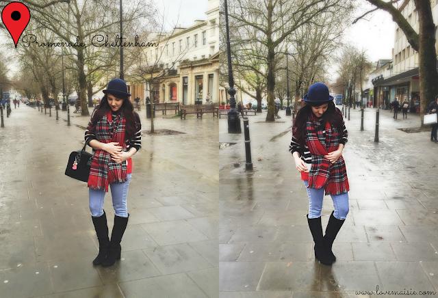 tartan on stripes, #ootd Love, Maisie blog