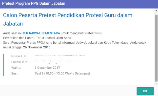 Cara Cek Jadwal dan Tempat Pretest PPG 2017
