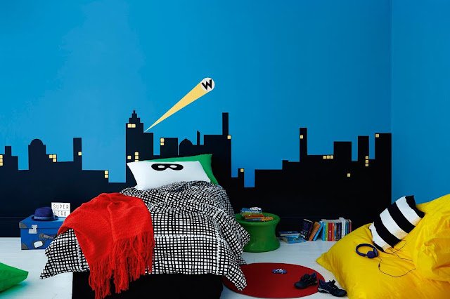 Dulux Superhero Bedroom #KidsBedroom