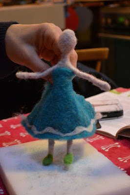 stage laine feutrée à l'aiguille