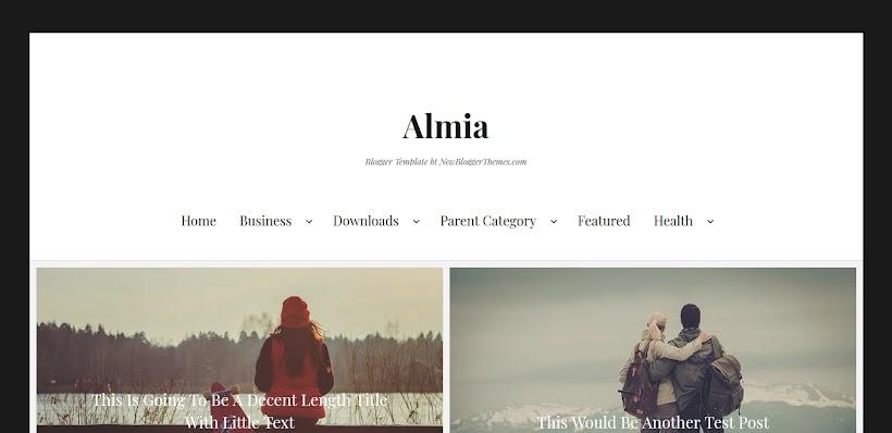 Almia Free Blogger Template
