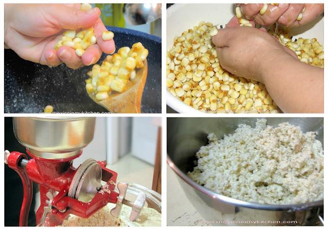 Masa de maíz nixtamalizado en casa