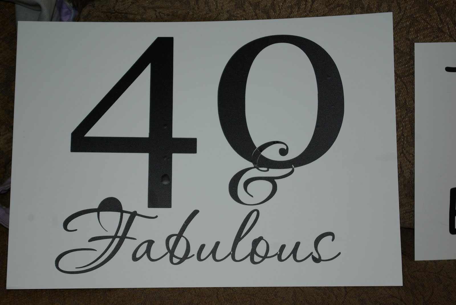 Natalie S Creations 40th Birthday Fun Yard Signs