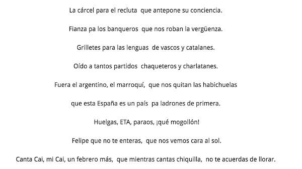 Esta letra de El Brujo....