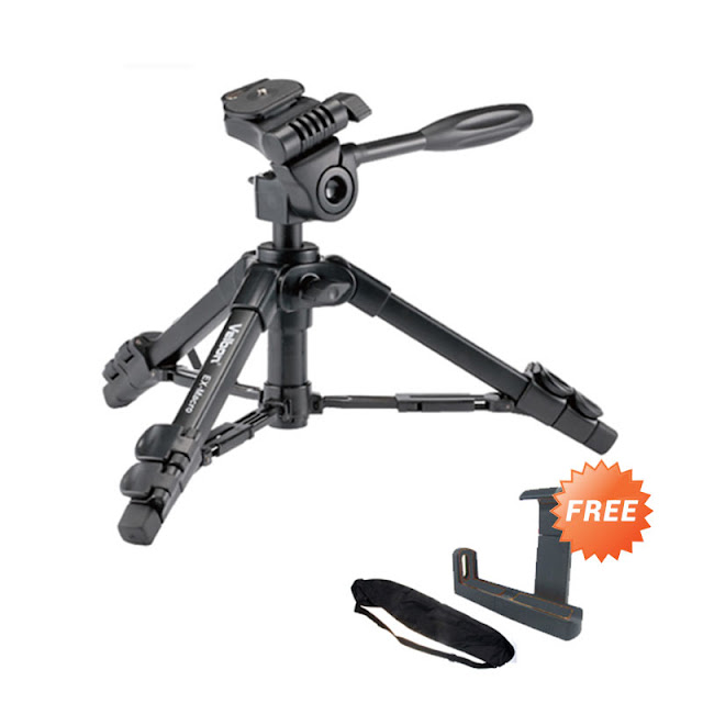 Velbon EX-Macro Mini Tripod + Tas Tripod & Holder L Medium