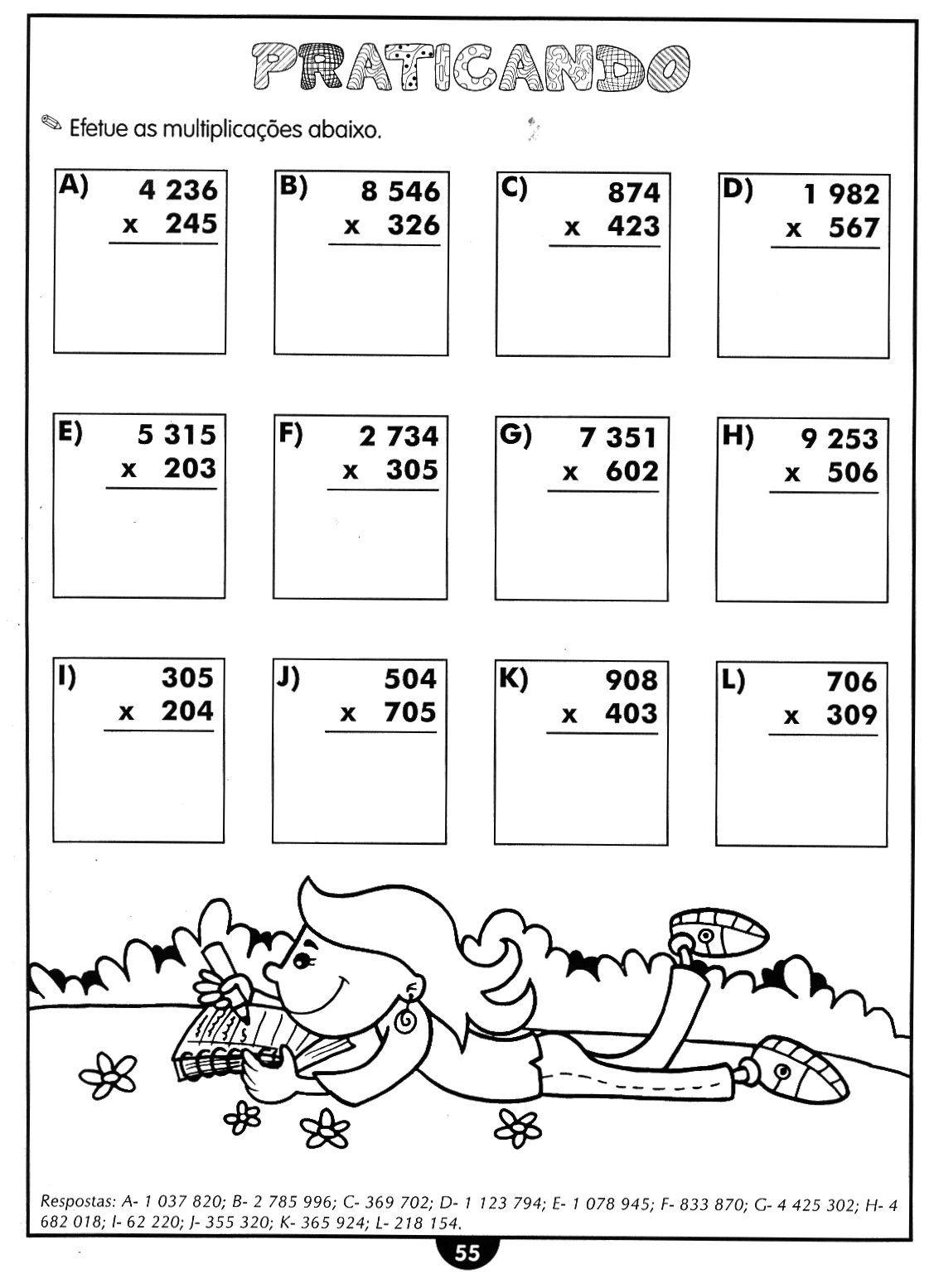 Compartilhando Saberes: Atividades de Matemática (Reforço