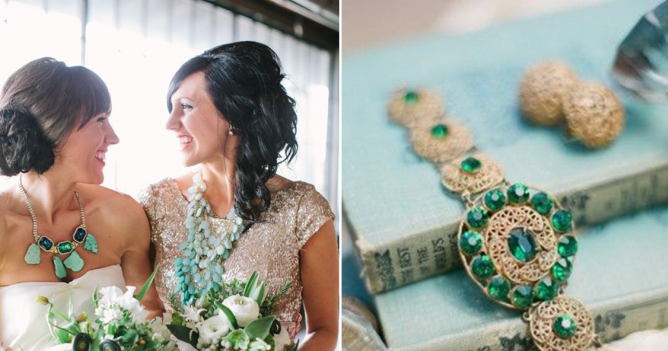 Wedding Colors | Aqua + Emerald
