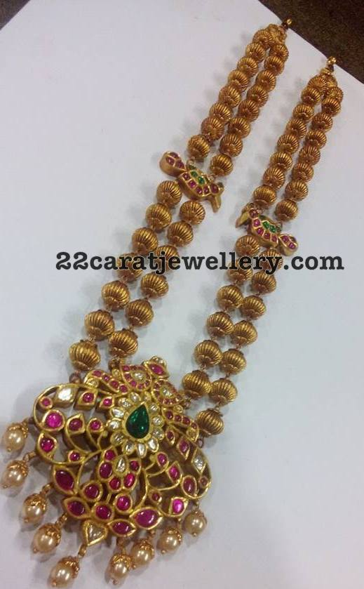 Antique Beads Set Detachable Pendant