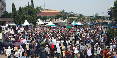 Ribuan Masyarakat Lampung Padati Deklarasi Gerakan Nasional #2019PRABOWOPRESIDEN
