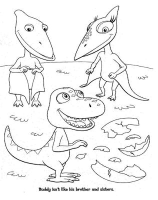 Gambar Mewarnai Dinosaurus - 7