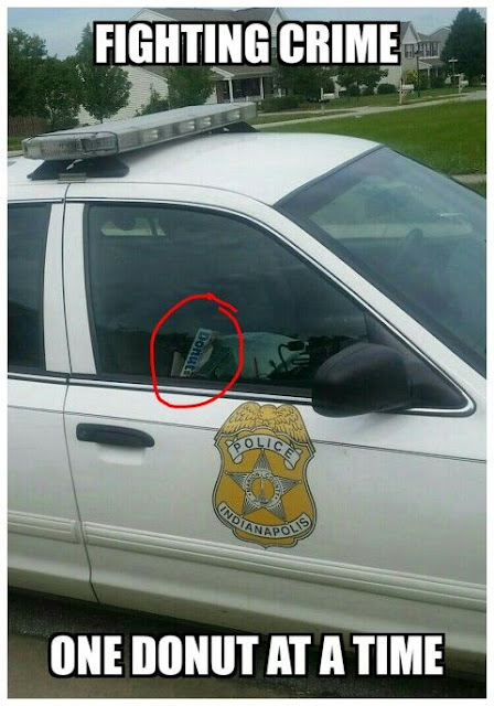 Cops in Indianapolis fight crime with donuts by their side lol
