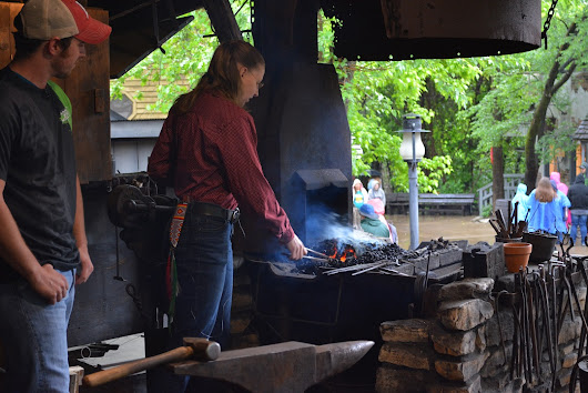 We stopped by the Blacksmith Shop at Silver Dollar City in Branson