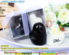 Tempat Lada Garam Mr N Mrs Heart Include Box Mika