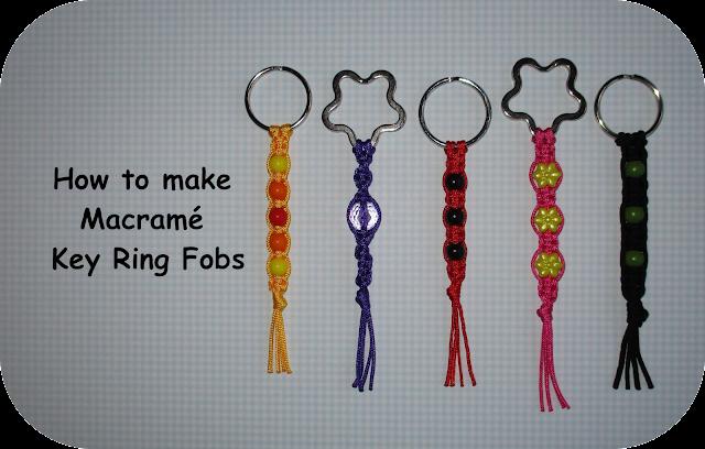 How to make Macramé Key Ring Fobs