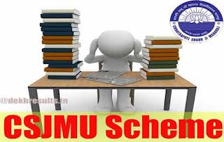 kanpuruniversity.org exam scheme 2018