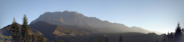 morning mount kinabalu view from Kundasang