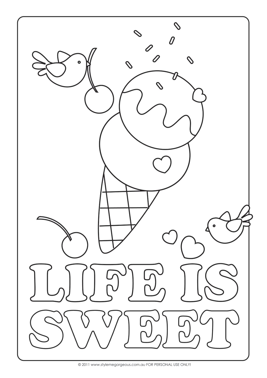 Coloring Pages For Kids: Ice Cream Coloring Pages