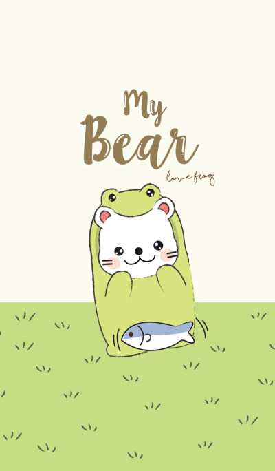 Bear love Frog. (Green Ver.)