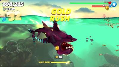 لعبة Hungry Shark World مهكرة للأندرويد، لعبة Hungry Shark World كاملة للأندرويد