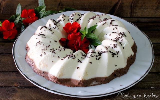 Corona de chocolate y queso. Julia y sus recetas