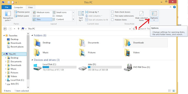Cara mengatur konfigurasi windows folder
