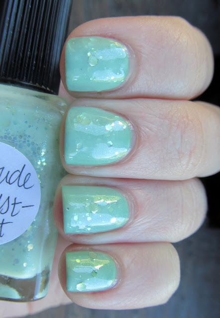 Lynnderella Attitude Adjust-Mint over Milani Dress Maker