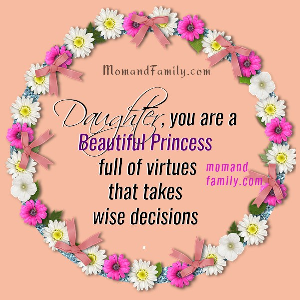 christian quotes for daughter, nice images with messages for my dear daughter, child, princess, from mom or dad by Mery Bracho