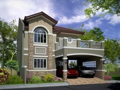 desain denah rumah minimalis 2 lantai terbaru - minimalis