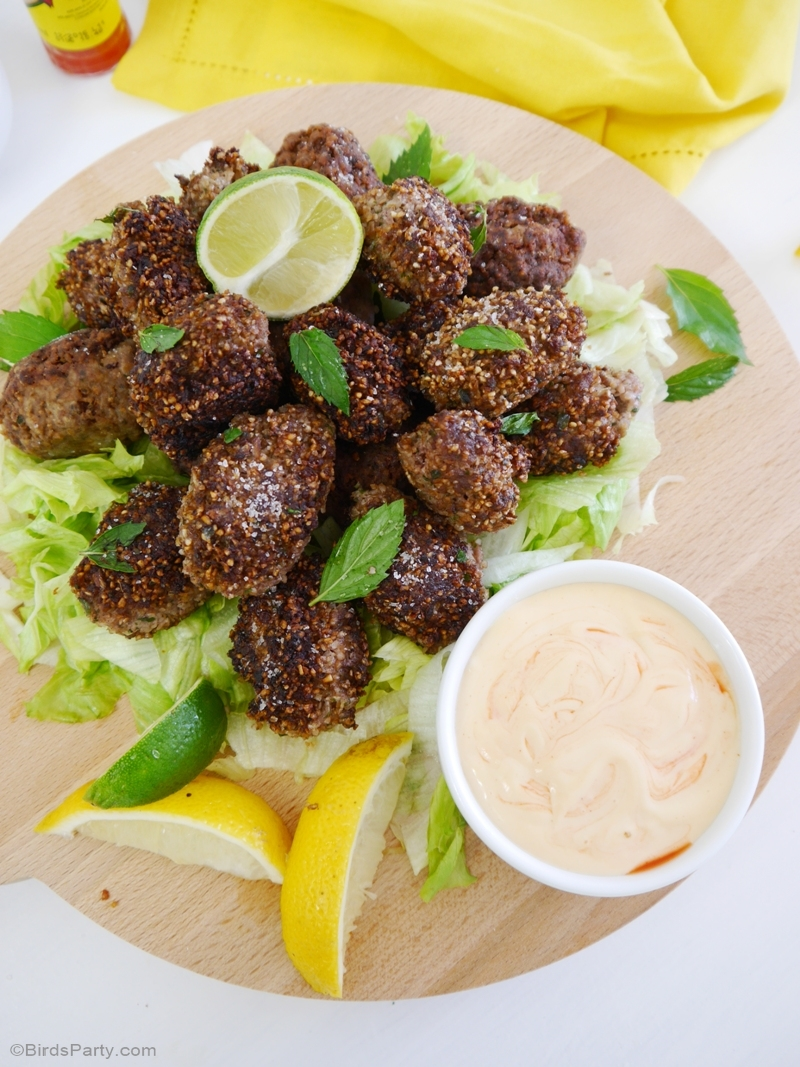 Party Food | Brazilian Kibbe Croquettes Appetizer Recipe - BirdsParty.com