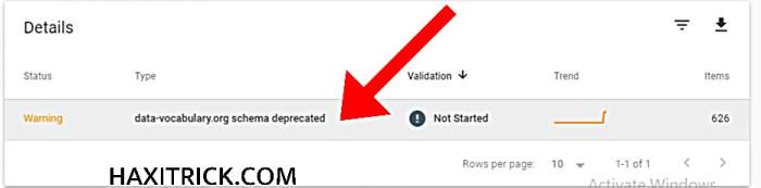 warning data-vocabulary.org Schema Deprecated validation