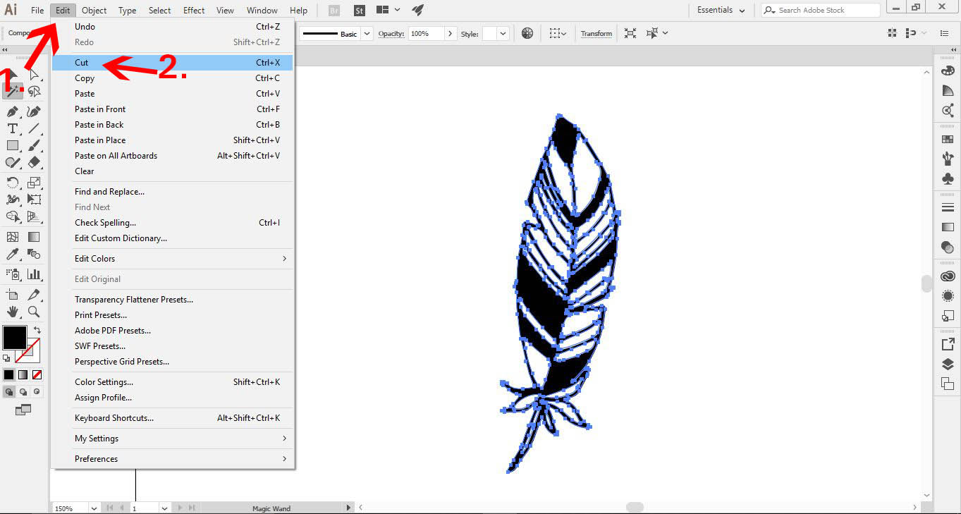 how to make a vector drawing in adobe illustrator
