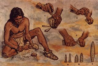 lavorazione di pietre e metallo nel paleolitico, ricerca per la scuola