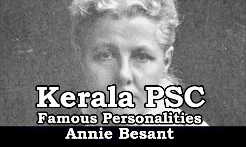 Famous Personalities - Annie Besant (1846 - 1933)